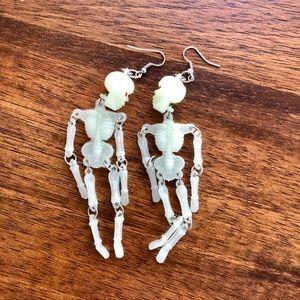 Glow-in-the-dark Skeleton Earrings